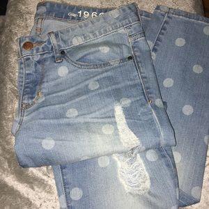 NWOT GAP always skinny distressed jeans